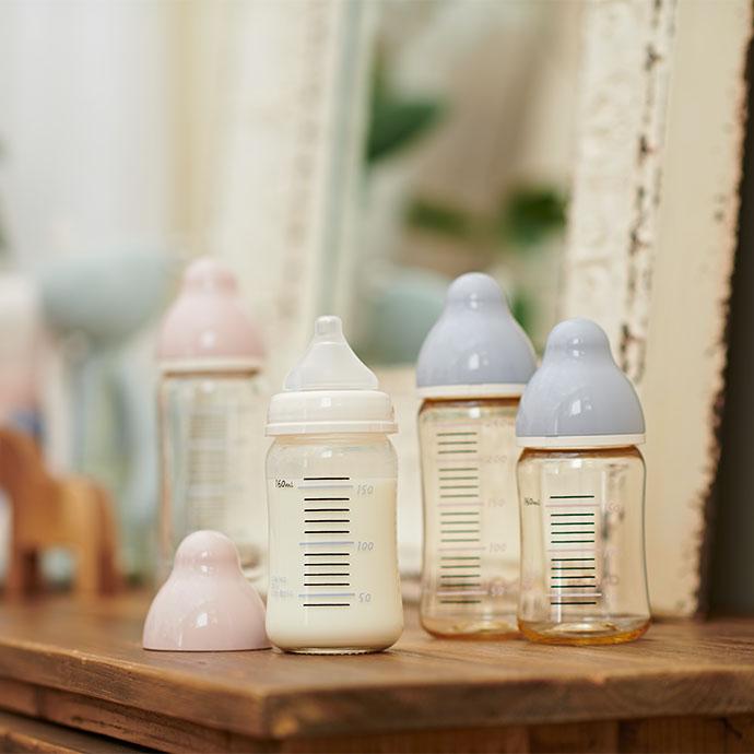 広口タイプシリコーンゴム製乳首 製品イメージ