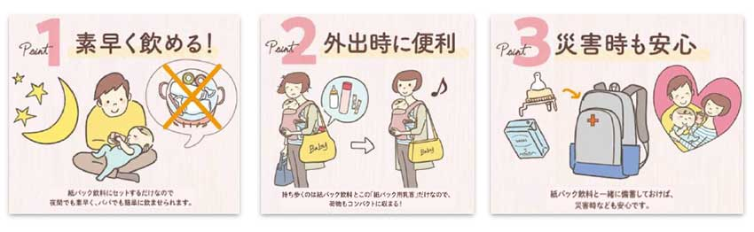 紙パック飲料がそのまますぐ飲める!簡単装着手間いらず!『 チュチュ 紙パック用乳首 』